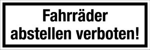 Gastronomy and trade sign - Bicycling prohibited! - Aluminum - 5 x 15 cm