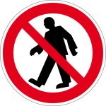 Prohibition sign - prohibited for pedestrians