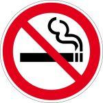 Prohibition sign - smoking prohibited