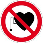 Prohibition sign - Prohibition for persons with pacemakers
