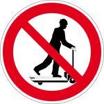 Prohibition Sign - Rolling with pallet trucks prohibited