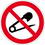 Prohibition sign - Do not pierce needles