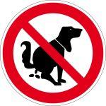 Prohibition sign - no dog-log