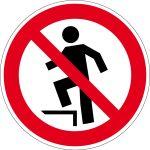 Prohibition sign - upgrade prohibited
