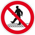 Prohibition sign - Do not step on roller conveyor