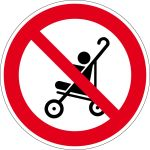 Prohibition Sign - Stroller prohibited