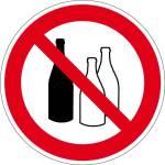 Prohibition sign - bottling of h ... substances in bottles prohibited