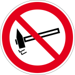 Prohibition sign - prohibited to strike