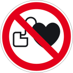 Prohibition sign - No access for persons with pacemakers