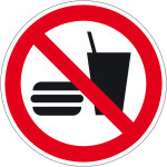 Prohibition sign - food and drink prohibited