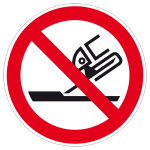 Prohibition sign - Not allowed for side grinding