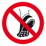 Prohibition sign - Metal-clad footwear prohibited
