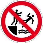 Prohibition sign - Do not push into the water