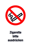 Prohibition sign - please express the cigarette