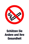 Prohibition Sign - Protect others and your health