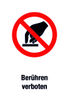 Prohibition sign - Do not touch