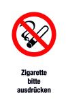 Prohibition sign - please express the cigarette