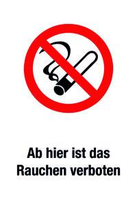 Prohibition sign - No smoking - Foil self-adhesive - 20 x 30 cm