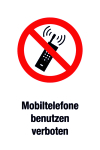 Prohibition sign - use mobile phones prohibited