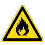 Warning sign - warning of flammable substances