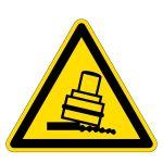 Warning sign - Warning of tipping hazard during rolling