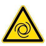 Warning sign - warning of automatic startup