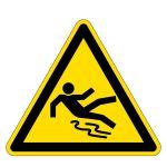 Warning sign - warning of slipping hazard