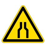 Warning sign - warning of bottlenecks