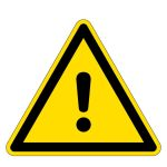 Warning sign - warning of a danger point