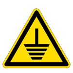 Warning sign - Grounding required