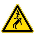 Warning sign - overtopping voltage