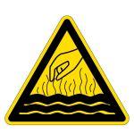 Warning sign - hot liquids