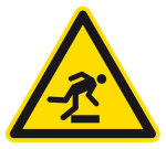 Warning sign - warning of obstacles on the ground
