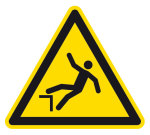 Warning sign - warning of danger of falling