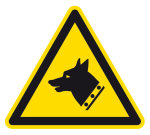 Warning sign - warning of guard dogs
