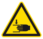 Warning sign - warning of hand injuries