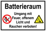 Information sign - battery compartment