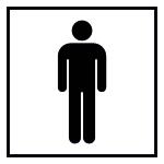 Door marking - WC gentlemen