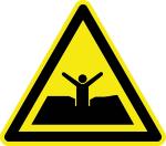 Warning sign - warning of quicksand
