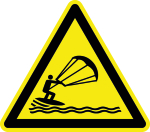 Warning Sign - Warning of Kitesurfing