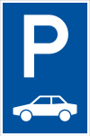 Parking sign - only for cars