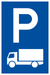 Parking sign - only for trucks