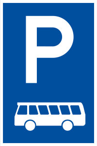 Parking sign - Only for buses - Foil self-adhesive - 20 x 30 cm