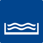 Swimming pool sign - outdoor pool