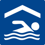 Swimming pool sign - indoor pool