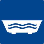 Swimming pool sign - bath