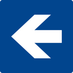 Swimming pool sign - directional arrow left / right