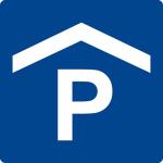 Swimming pool sign - Parking garage