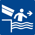Swimming Pool Shield - Leave the chute immediately
