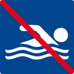 Swimming sign - swimming prohibited